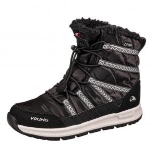 Dětská obuv VIKING FLINGA JR GTX   /black/white -  Zimní