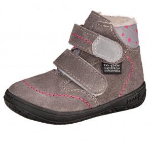 Dětská obuv Jonap B5SV šedé, puntík *BF -  Zimní