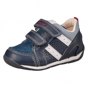 Dětská obuv GEOX B Each  /navy/lt.blue - Boty a dětská obuv