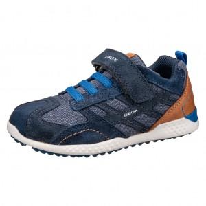 Dětská obuv GEOX  J Snake.2  B   /navy/royal - Boty a dětská obuv