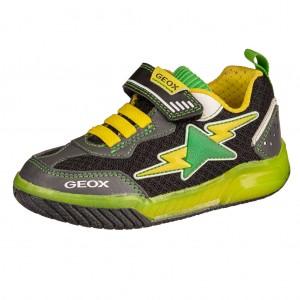 Dětská obuv GEOX J Inek B  black/lime - Boty a dětská obuv