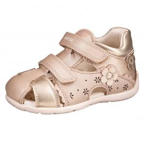 Dětská obuv GEOX B Kaytan  /beige/gold - Boty a dětská obuv