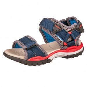 Dětská obuv GEOX J Borealis  /navy/red - Boty a dětská obuv