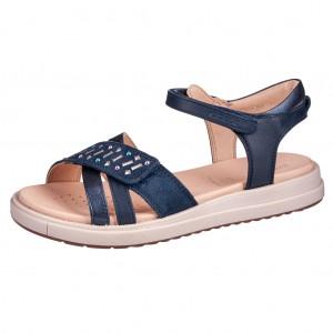 Dětská obuv GEOX J S.Rebecca  /navy  - Boty a dětská obuv