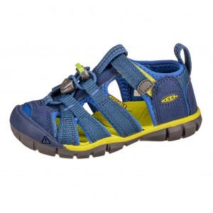 Dětská obuv KEEN Seacamp   /blue depths/chartreuse -  Sandály