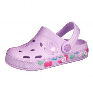 Dětská obuv Coqui   lila hearts  -  Sandály