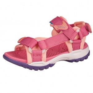 Dětská obuv GEOX J Borealis  /fuchsia/salmon -  Sandály