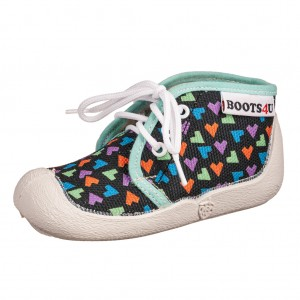 Dětská obuv Boots4U Plátěnky tmavý potisk  *BF -  První krůčky