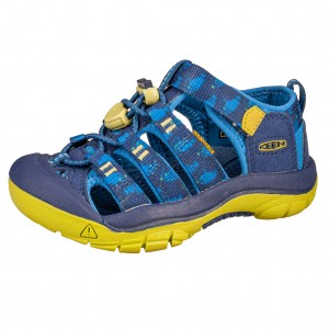 Dětská obuv KEEN Newport H2 /blue depths/chartreuse - Boty a dětská obuv