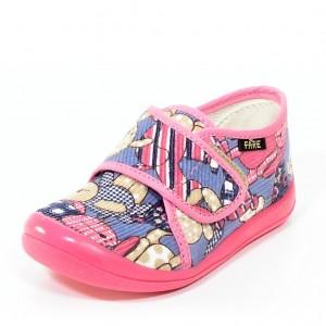 Dětská obuv FAREčky   /růžoví medvědi suchý zip - Boty a dětská obuv