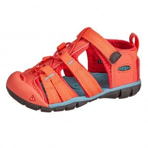 Dětská obuv KEEN Seacamp   /coral/poppy red -  Sandály