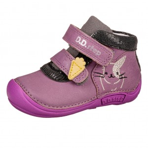Dětská obuv D.D.Step  018-599  Lavender *BF -  Celoroční