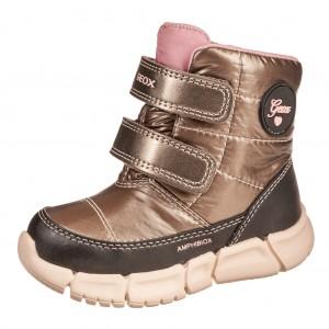 Dětská obuv GEOX B Flexyper G   /smoke grey/black - Zimní
