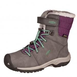 Dětská obuv KEEN Hoodoo III MID WP  /magnet/plum purple - Boty a dětská obuv
