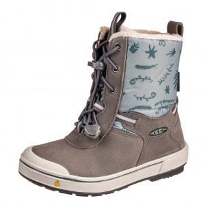 Dětská obuv KEEN Kelsa Tall WP  /magnet/chinois green - Boty a dětská obuv