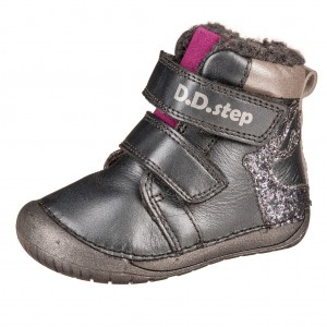 Dětská obuv D.D.Step 070-744A Black -  První krůčky