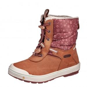 Dětská obuv KEEN Kelsa Tall WP  /caramel cafe/harbor gray - Boty a dětská obuv