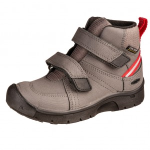 Dětská obuv KEEN Hikeport MID strap WP  /magnet/red carpet -  Celoroční