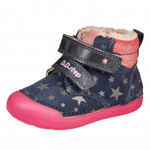 Dětská obuv D.D.Step 066-303  Royal Blue - Zimní
