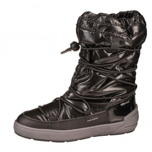 Dětská obuv GEOX J Sleigh G /black - Zimní