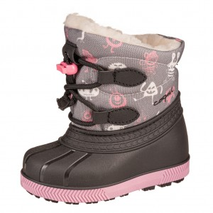 Dětská obuv Coqui sněhule Bergy  grey/pink/ufo - Zimní