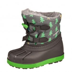 Dětská obuv Coqui sněhule Bergy  atracit/tree - Zimní