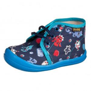 Dětská obuv FAREčky   /modré šněrovací -  První krůčky