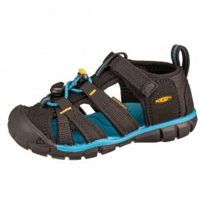 Dětská obuv KEEN Seacamp   /black/Keen yelow -  Sandály