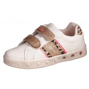 Dětská obuv GEOX J Skylin G   /white/fluofuchsia - Boty a dětská obuv