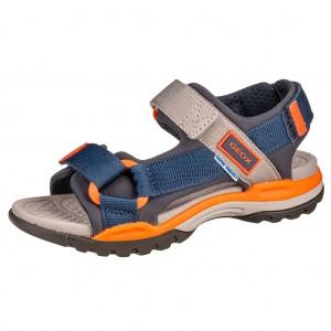 Dětská obuv GEOX J Borealis  /navy/orange - Boty a dětská obuv
