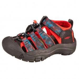 Dětská obuv KEEN Newport H2 /black/orange -  Sandály