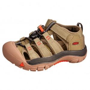 Dětská obuv KEEN Newport H2 /olive drab/orange - Boty a dětská obuv