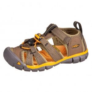 Dětská obuv KEEN Seacamp   /military olive/saffron - Boty a dětská obuv