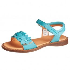Dětská obuv Froddo sandály Lore flowers /turquoise - Boty a dětská obuv