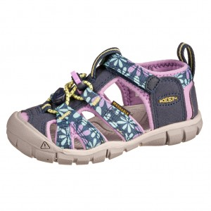Dětská obuv KEEN Seacamp   /black iris/african violet - Boty a dětská obuv