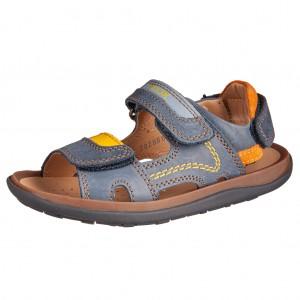 Dětská obuv GEOX J Lipari B /navy/yellow - Boty a dětská obuv