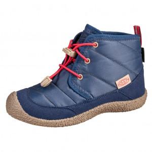 Dětská obuv KEEN Howser II Chukka WP  /blue depths/red carpet - Boty a dětská obuv