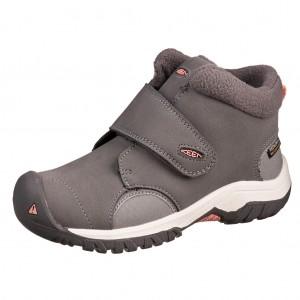 Dětská obuv KEEN Kootenay III WP  /steel grey/dusty pink - Boty a dětská obuv