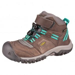 Dětská obuv KEEN Ridge flex MID WP  /magnet/greenlake - Boty a dětská obuv
