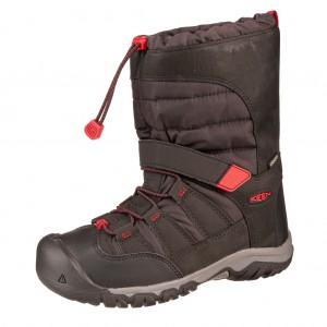 Dětská obuv KEEN Winterport neo WP   /black/red carpet - Boty a dětská obuv