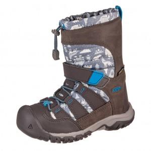 Dětská obuv KEEN Winterport neo WP   /steel grey/brilliant blue - Boty a dětská obuv